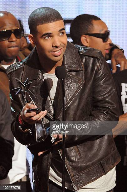 Drake onstage during the 2010 BET Awards held at the Shrine Auditorium on June 27, 2010 in Los Angeles, California.