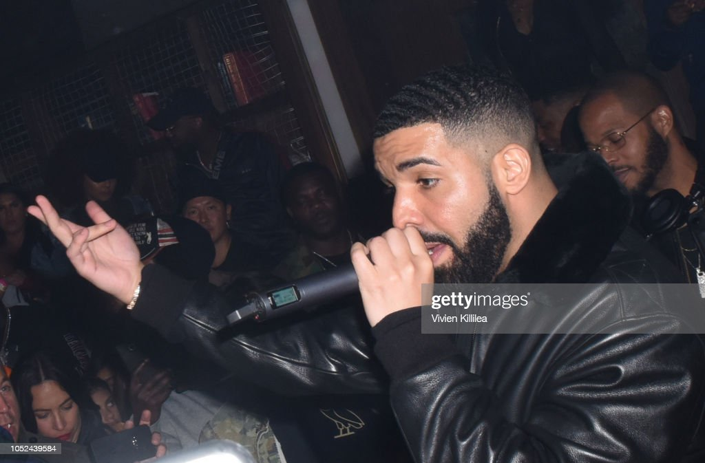 Drake performs at Drake's Private After Party at Poppy nightclub presented by The hwood Group PacSun with specialty sips by Virginia Black on October...