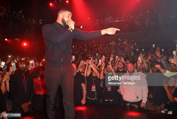 Drake performs at E11EVEN MIAMI during his official concert after party on November 15 2018 in Miami Florida