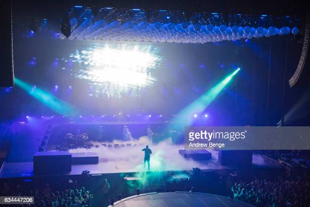 Drake performs at First Direct Arena on February 9, 2017 in Leeds, United Kingdom.