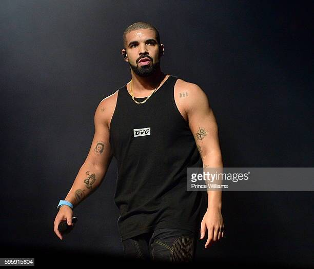 Drake Performs at the Summer 16 Tour at Philips Arena on August 25 2016 in Atlanta Georgia
