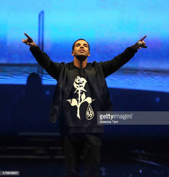 Drake performs at the Ziggo Dome on March 5 2014 in Amsterdam Netherlands