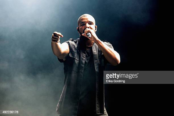 Drake performs during Austin City Limits Music Festival at Zilker Park on October 10 2015 in Austin Texas
