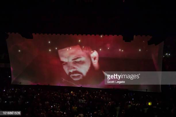 Drake performs during the Aubrey and The Three Migos Tour at Little Caesars Arena on August 14, 2018 in Detroit, Michigan.