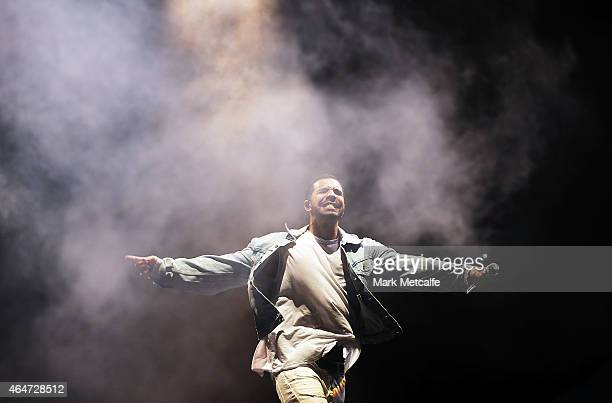 Drake performs during the Future Music Festival at Royal Randwick Racecourse on February 28 2015 in Sydney Australia