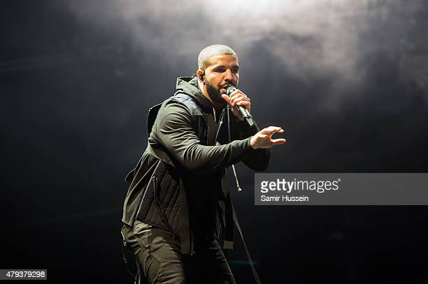Drake performs on day 1 of the New Look Wireless Festival at Finsbury Park on July 3, 2015 in London, England.