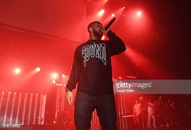 Drake performs on stage at Gucci and Friends Homecoming Concert at Fox Theatre on July 22 2016 in Atlanta Georgia