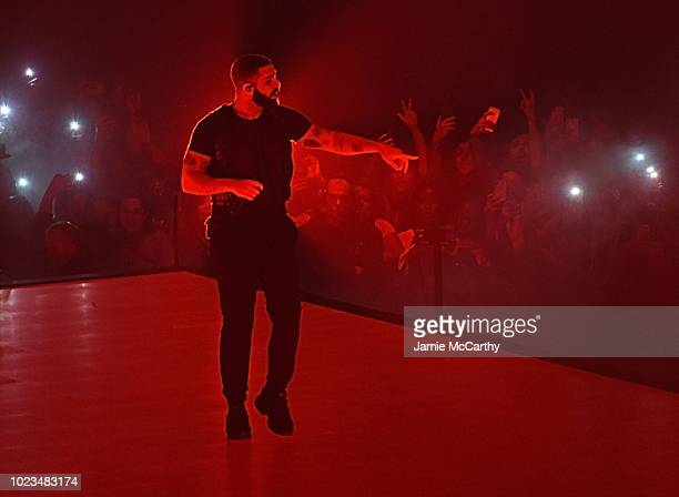 Drake performs onstage at Madison Square Garden on August 25 2018 in New York City