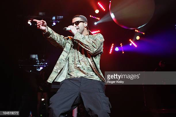 Drake performs onstage in concert at Radio City Music Hall on September 28 2010 in New York City