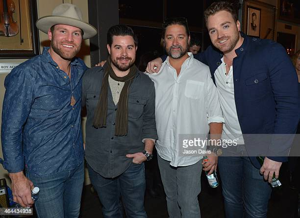 Drake White, Trey Wilson, Chris Stacey and Kris Lamb attend an evening with Big Machine Label Group Artists The Cadillac Three , Drake White , And...