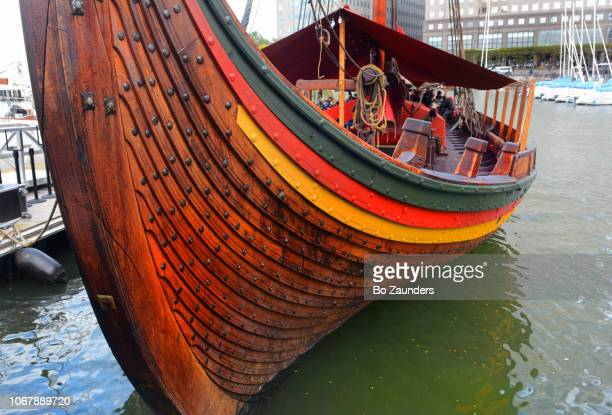 Draken Harald Håfagre, Viking longship, docked in Lower Manhattan.