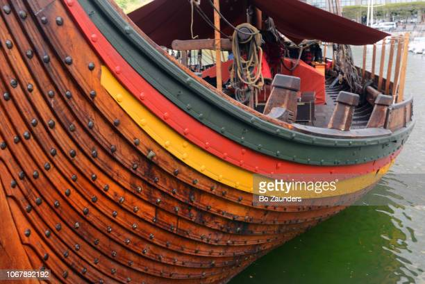 Draken Harald Hårfagre, Viking longship, docked in Lower Manhattan.