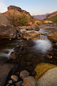 small cascade bushmans river flowing drakensberg