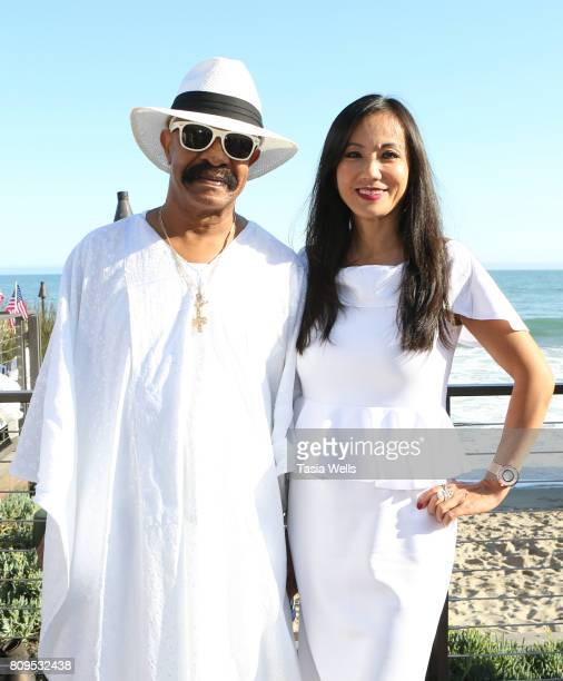 Drakes father Dennis Graham and Jenell Ling at the 4th annual 'Red White and Bootsy' July 4th Bash presented by The hwood Group powered by Pacsun...