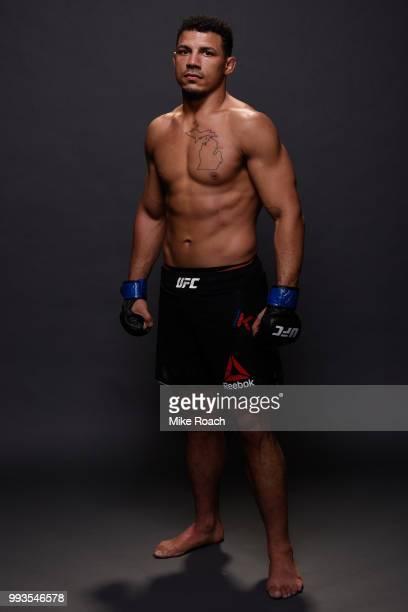 Drakkar Klose poses for a portrait backstage during the UFC 226 event inside T-Mobile Arena on July 7, 2018 in Las Vegas, Nevada.