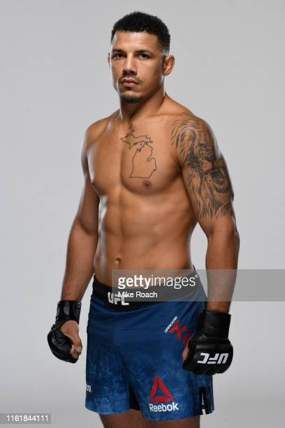 Drakkar Klose poses for a portrait during a UFC photo session on August 14, 2019 in Anaheim, California.