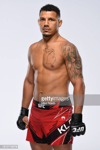 Drakkar Klose poses for a portrait during a UFC photo session on April 14, 2021 in Las Vegas, Nevada.