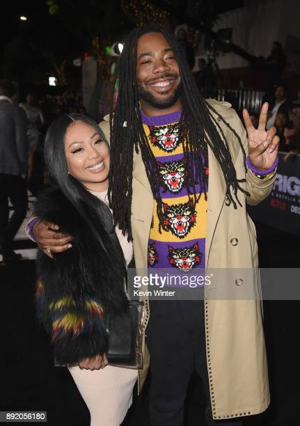 Dram attends the Premiere Of Netflix's 'Bright' at Regency Village Theatre on December 13 2017 in Westwood California