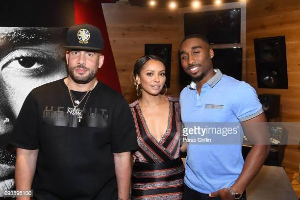 DJ Drama actress Kat Graham and actor Demetrius Shipp Jr attend 'All Eyez On Me' QA at Means Street Studios on June 8 2017 in Atlanta Georgia