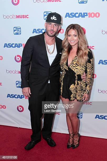 Drama and Jessica Burciaga arrived at the ASCAP 27th Annual Rhythm & Soul Music Awards at The Beverly Hilton Hotel on June 26, 2014 in Beverly Hills,...