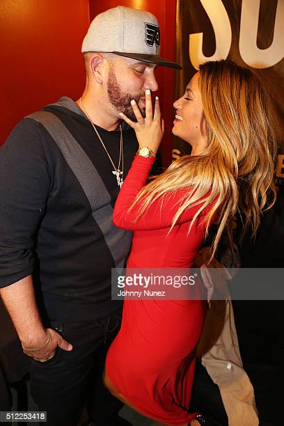 Drama and Jessica Burciaga attend S.O.B.'s on February 24, 2016 in New York City.