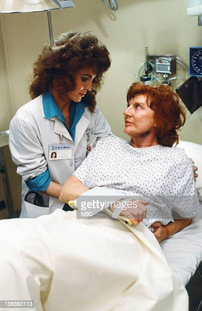 ST ELSEWHERE 'Drama Center' Episode 14 Pictured Cynthia Sikes as Dr Annie Cavanero Allyn Ann McLerie as Roxanne Reed