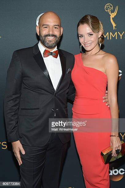 EVP Drama Development Programming FOX Broadcasting Company Terence Carter and Ana Khar attend the 68th Annual Primetime Emmy Awards at Microsoft...