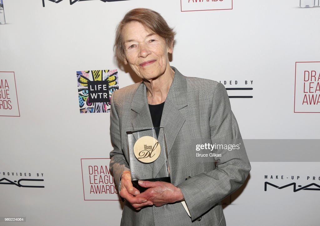 Drama League Distinguished Performance of The Year for 'Three Tall Women' Glenda Jackson poses at The 2018 Drama League Awards at The Marriott Marquis Times Square on May 18, 2018 in New York City.