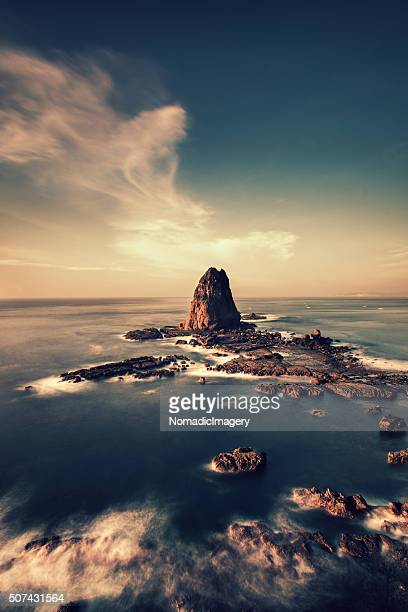 Dramatic aerial view of Papuma Rock