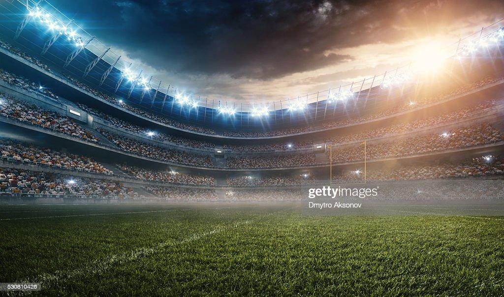 Dramatic american football stadium : Stock Photo
