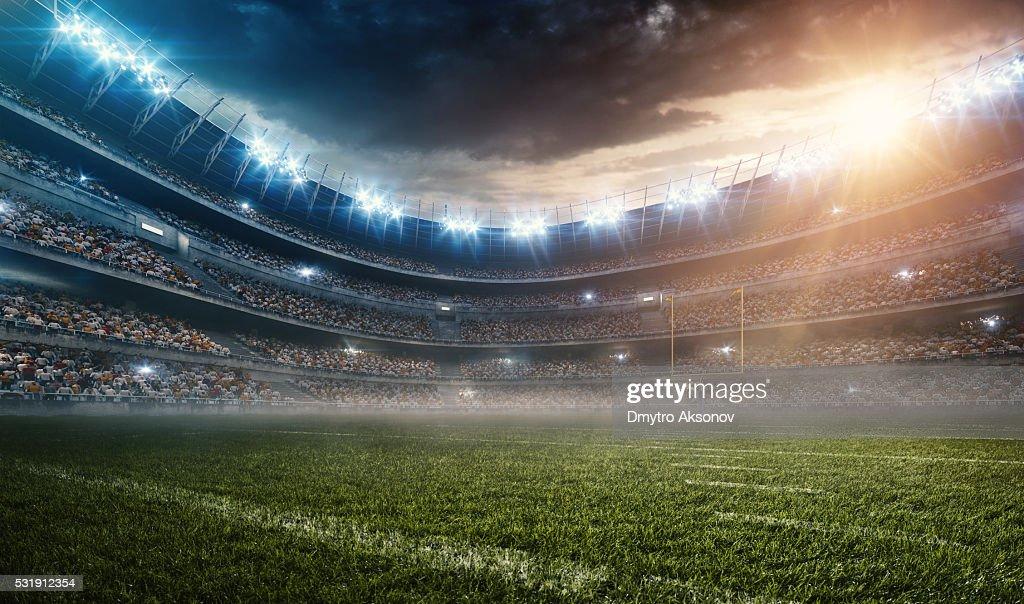 Dramático estádio de futebol americano : Foto de stock