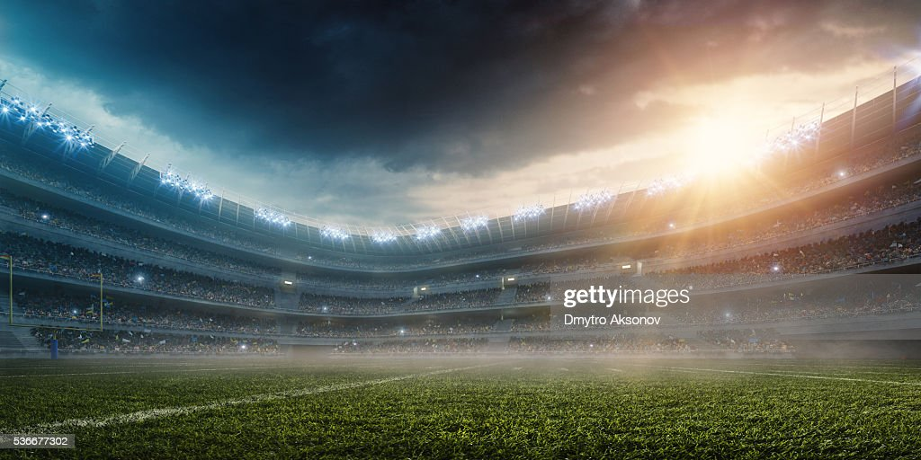 Dramatische american football Stadion : Stock-Foto