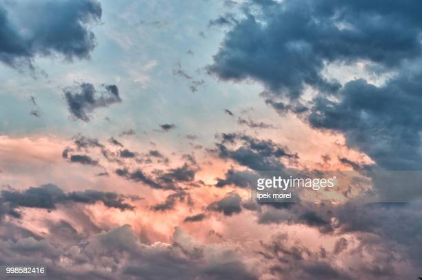 dramatic and beautiful sky view after sunset - ipek morel stock pictures, royalty-free photos & images