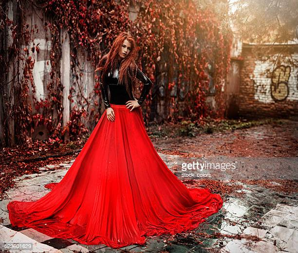 dramatic autumn queen - latex stock photos and pictures