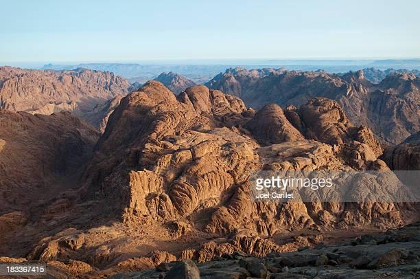 Dramatic barren view from Mount Sinai