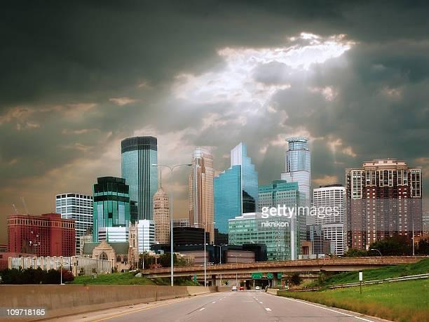 Dramatic City Skyline