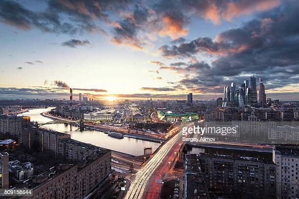 Dramatic cityscape of Moscow