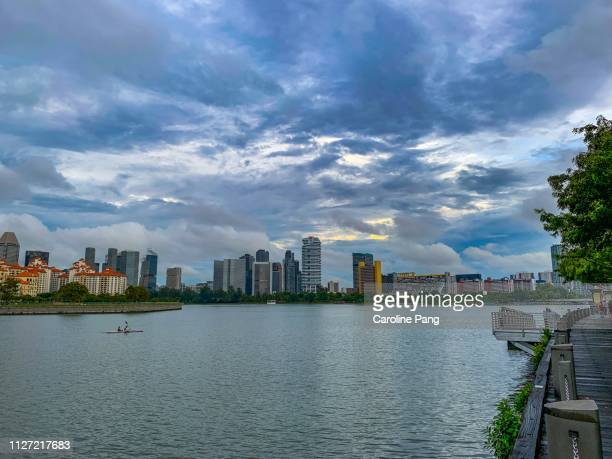 Dramatic cloud above Singapore