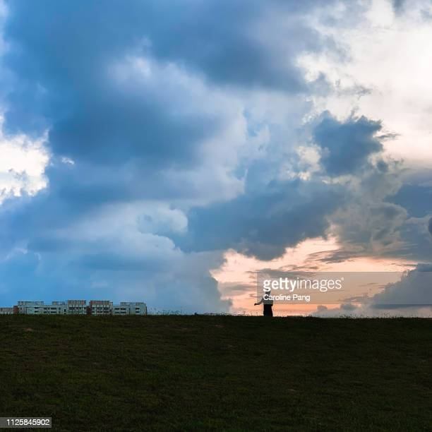 Dramatic cloud at sunset.
