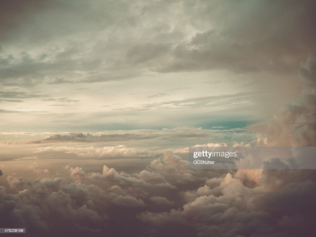Dramatic Cloud with Sunshine : Stock Photo