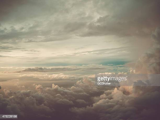 dramatic cloud with sunshine - elysium stock photos and pictures