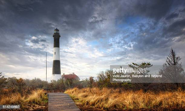 Dramatic Clouds and Light at Fire island Lighthouse