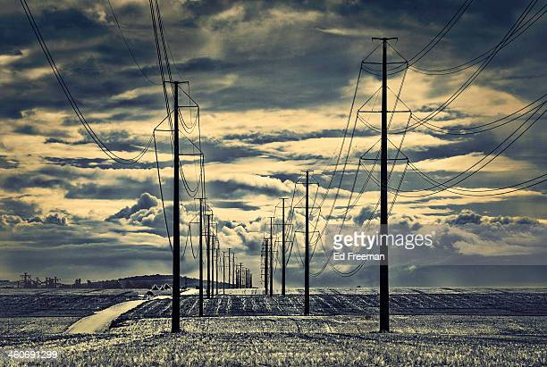 Dramatic Clouds and Power Lines
