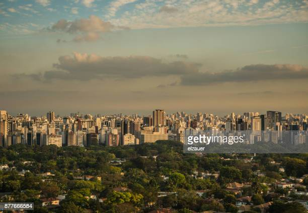 Dramatic clouds over Sao Paulo in the Pinheiros Area.
