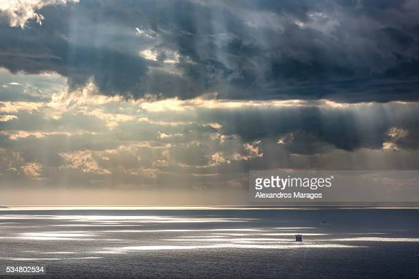 Dramatic Clouds over the sea