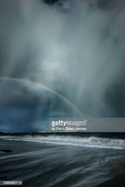 dramatic clouds - moonbow ストックフォトと画像