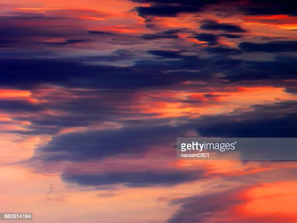 Dramatic colorful clouds in the sky