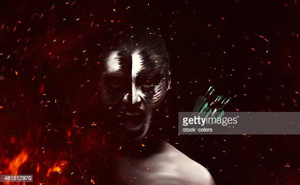 dramatic evil woman burning - burns victims stock pictures, royalty-free photos & images