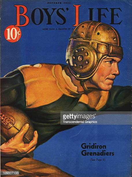 NEW YORK SEPTEMBER A dramatic football illustration is on the cover of Boys Life magazine from New York the October 1935 issue