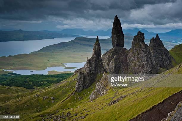 Des Highland pinnacles Old Man of Storr Skye Écosse